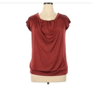 M Mossimo Red Pleated Shirt Blouse Top Valentine's